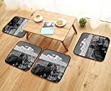Leighhome Modern Chair Cushions Nostalgic Photo of Ethnic Finding Grand Canyon Peaks in National Park with Cloud Convenient Safety and Hygiene W23.5 x L23.5/4PCS Set