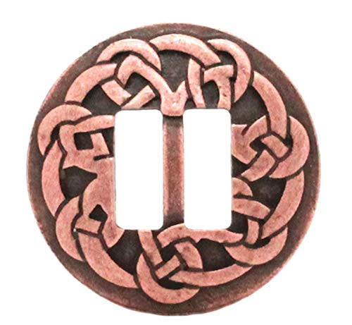 Celtic Slotted Concho Antique Copper Plated 1-1/4