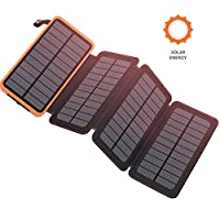 Benfiss Solar Charger 25000mAh, Fast Cha...