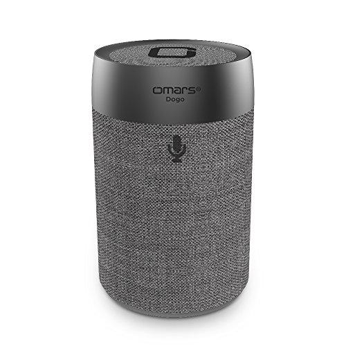 Omars Smart Wireless Speaker DOGO - Portable Voice Controlled Speaker Amazon Alexa(Grey) by Omars