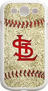 Alia's Shop - MLB Team Logo, St. Louis Cardinals Logo Samsung GALAXY S3 Cases (White) - St. Louis Cardinals 3