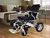 Electric Wheelchair Deluxe Foldable Power Compact Mobility Aid Wheel Chair, Lightweight Folding Carry Electric Wheelchair, only 54 lbs Supports up to 390 lbs, FDA Approved