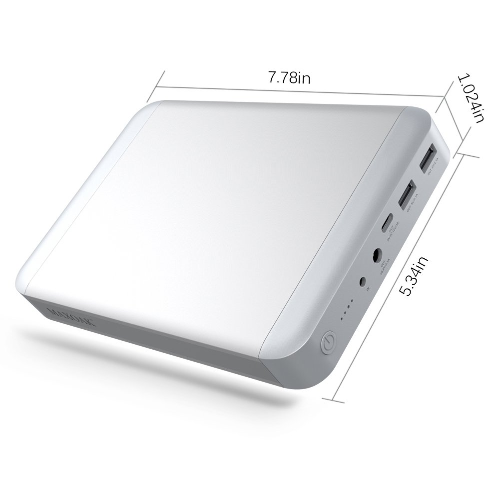 MAXOAK 36000mAh USB-C Type C Power Bank for MacBook / MacBook Pro / MacBook Air 11/12/13 Inch Portable Charger External Battery Pack (5/9/12/14.8V/16.8V) for Apple Laptop Notebook iPhone iPad & More by MAXOAK (Image #6)
