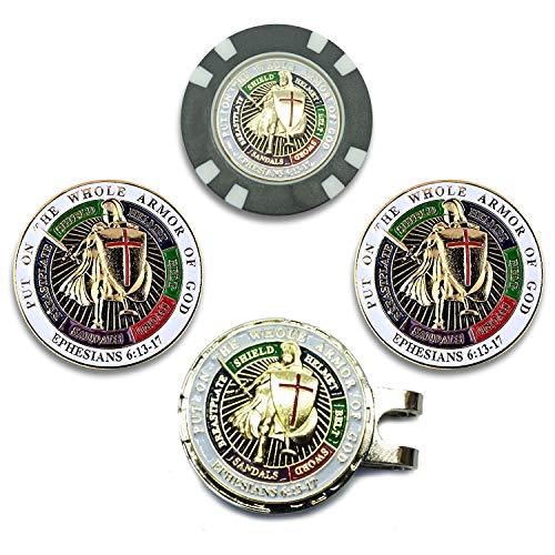 Rystinworks Armor of God Six Piece Golf Ball Marker Set Chip ()
