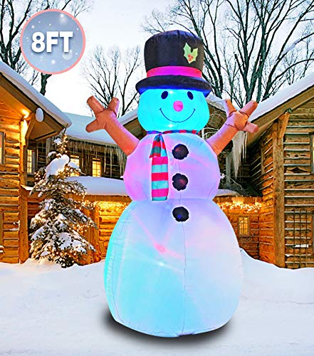 PARAYOYO 8 Ft Christmas Inflatable Snowman Decoration Inflatables for Lawn Yard Home Indoors Outdoors