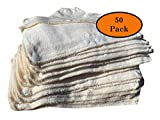 Snap On Hard Hat Sweatband Set Of 50, Hot Weather Head Sweat Accessories - Beige, by AcerPal