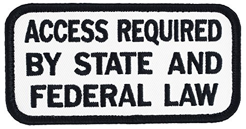 Large Access Required By State And Federal Law Velcro Service Dog Embroidered Patch   4  X 2