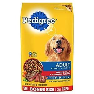 PEDIGREE Complete Nutrition Adult Dry Dog Food Bonus Bags (Steak, 50 lbs. Pack of 2)