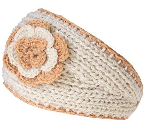 KMystic Winter Two Tone Flower Headband (Cream)