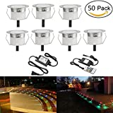LED Deck Light Kit, Low Voltage 50 pcs Waterproof IP65 Φ1.22'' Recessed Deck Lamp RGB LED In-ground Lighting Outdoor Garden Yard Pathway Patio Stair Landscape Decor Lamp, (FAST Transport by DHL)