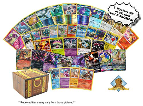 Pokemon 25 Card Lot Grab Bag Mix - Foils - Holos - Ultra Rare - Rares! Includes Golden Groundhog Treasure Chest!