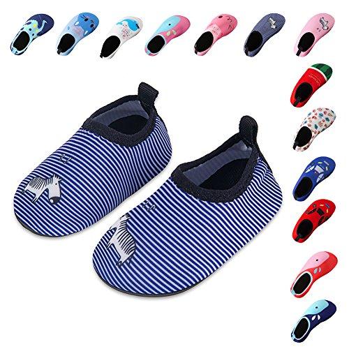 Laiwodun Kleinkind Schuhe Schwimmen Wasser Schuhe Mädchen Barefoot Aqua Schuhe für Beach Pool Surfen Yoga Unisex Color-13