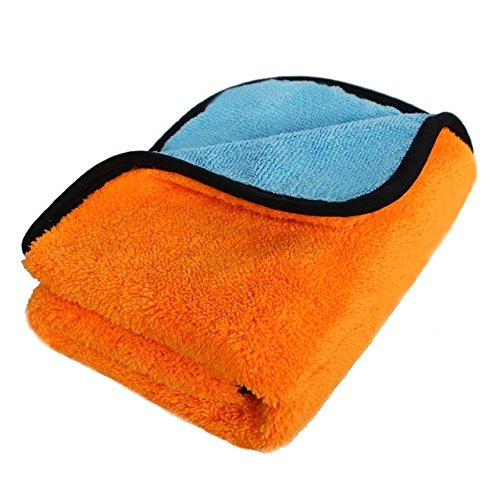 Ocamo 45x38 Soft Coral Fleece Fiber Car Wash Towel Double-si