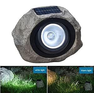 SHINEELI Proyector LED Solar Rock, Luces de Seguridad ...