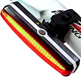 SinoPro Bike Tail Light Rechargeable, Super Bright LED Bike Rear Light For Maximum Visibility and Safety, Fits on any Bicycles or Helmets