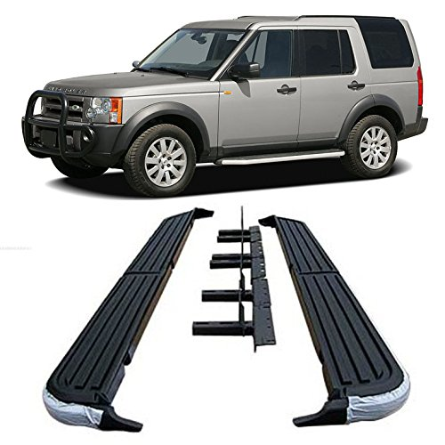 (Nova Running Boards for 05-16 Land Rover LR3 LR4 Discovery-3 Aluminum Running Boards Step Side OE Style 2005 06 07 08 09 10 11 12 13 14 15 16 17)