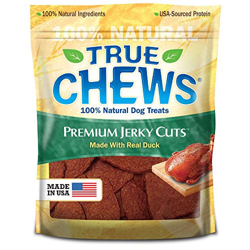 True Chews Premium Jerky Cuts Dog Treats, Duck, 22 Ounce (Duck Bacon)