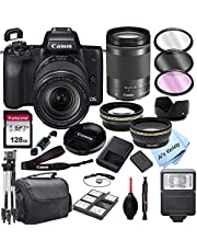 $889 » Canon EOS M50 Mirrorless Digital Camera with 18-150mm Zoom Lens + 128GB Card, Tripod, Case, and More (24pc Bundle)