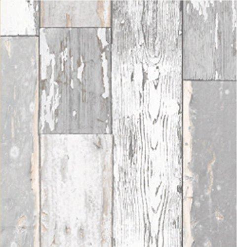 Klebefolie Scrapwood grau 67,5x200 cm- Möbelfolie altes Holz - Dekorfolie