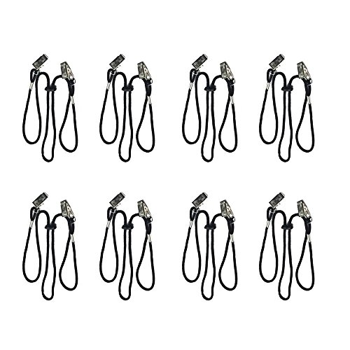 Haiker Pack of 8 Pcs Adjustable Napkin Clip Lanyard Neck Strap for Elderly/Adult/Baby ()