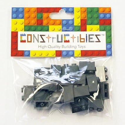 LEGO Lot of 25 Black 1x2 Classic Creator Basic Building Brick Pieces