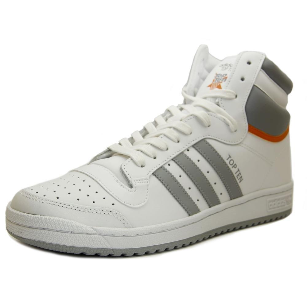 adidas Originals Men's TOP Ten HI Running Shoe, WhiteClearGrey Tactile Orange S, 8.5 M US