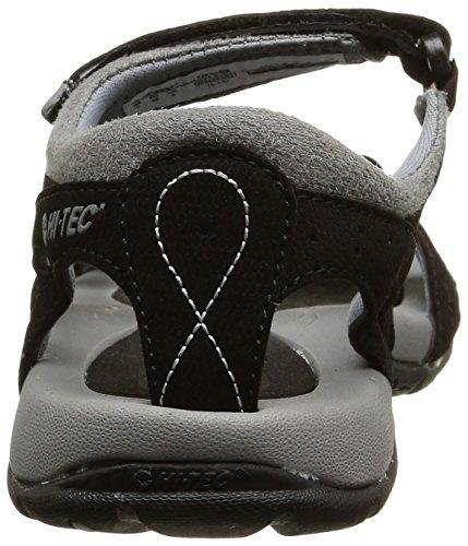 Hi-Tec Galicia Strap - Sandalias de vestir Mujer Negro - Noir (Black/Grey)