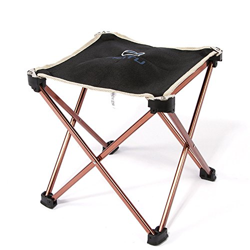 Hulorry Outdoor Folding Stool Chair Aluminum Fishing Chair Picnic Beach Garden Stool Seat Portable Foldable Stool Lightweight Fishing Stool With Carrying Bag by Hulorry