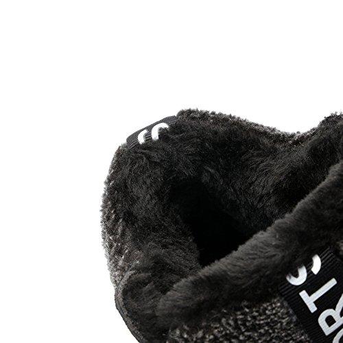 U-mac High-end Wedge Sneakers Voor Dames - Anti-slip Rubberen Zool Verborgen Hak Ronde Neus Plateau Casual Schoenen Zwart