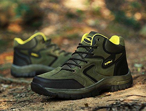 Walking Gomnear Suede Green Top Climbing Shoes Non Low Trekking Sneaker Men's Hiking Slip Boots qzw6aCrqxv