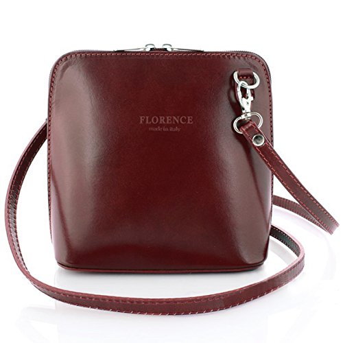 sh Collection Genuine Leather Shoulder Crossbody Bag Made in Italy (Dark Chocolate) (Color Splash Design)