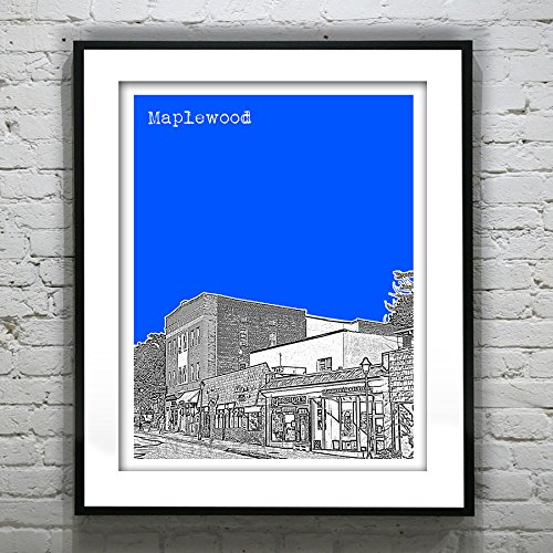 Maplewood New Jersey Art Print Poster - Maplewood, Nj - Version 1
