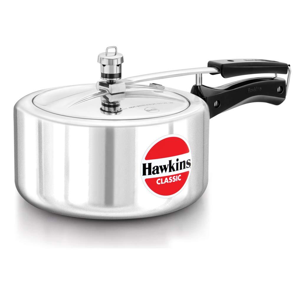 Hawkins Classic Pressure Cooker, 3.5 Litre, Silver (CL35)