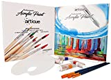 Acrylic Paint Set with 37ml Tubes & Professional Brushes. Non Toxic Creamy Paints with Rich Pigments. Best on Canvas,Wood,Fabric & Crafts. For Kids,Beginners & Professional Artists. Complete Paint Kit