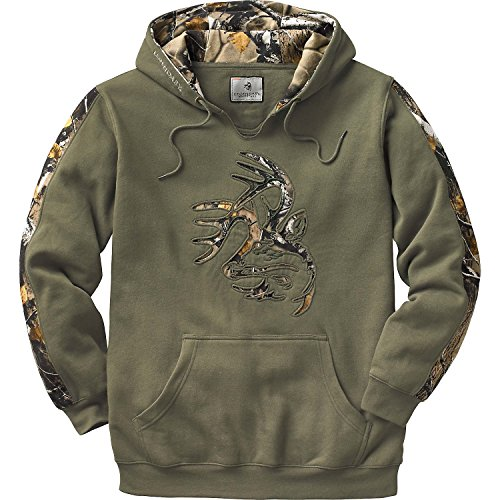 (Legendary Whitetails Mens Outfitter Hoodie Army Medium)