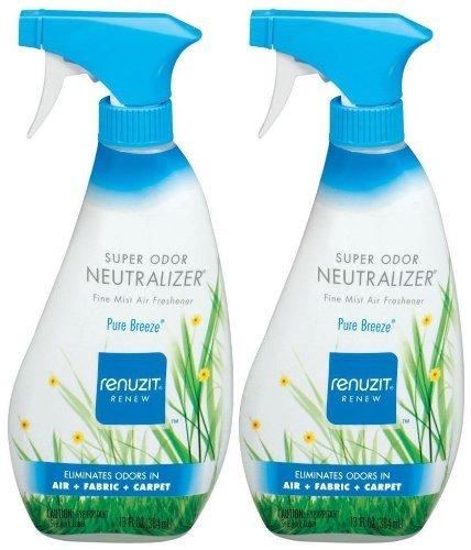 (Renuzit Super Odor Neutralizer Air Freshener Spray, Pure Breeze, 13 oz-2 pk)