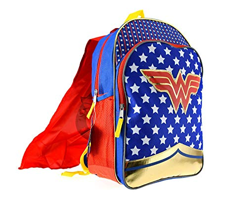 Wonder Woman Girls Backpack w/Detachable Cape -