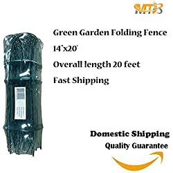 "Green Garden Border Edging Folding Fence Roll 14""x20' Scroll Top Rolled Fencing"