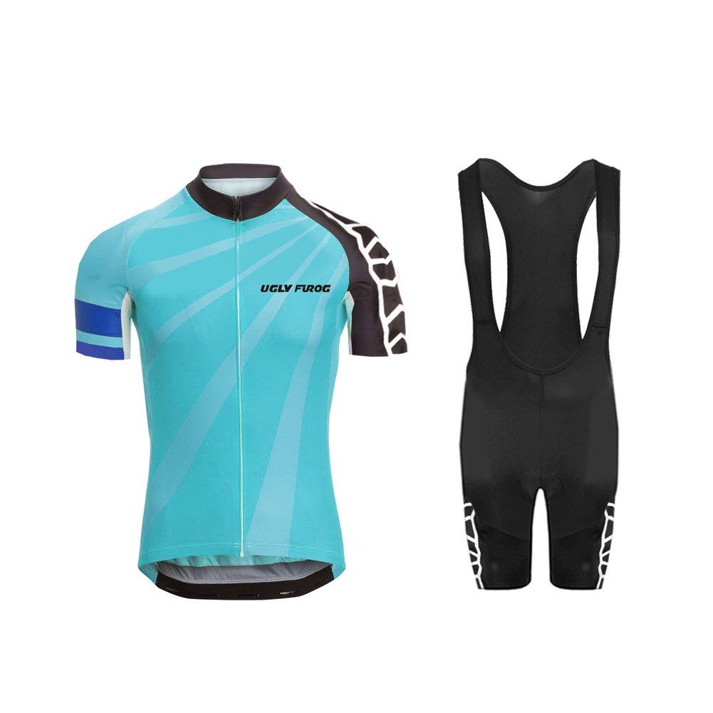 Uglyfrog  04 Bike Wear Country - Code Sommer Herren Radsport Anzüge Kurzarm Cycling Jersey + Trägerhosen Sport Bekleidung Kit