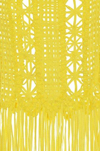 Boutique para mujer Floral ganchillo Cami Top Ladies algodón playa vacaciones Cover Up amarillo