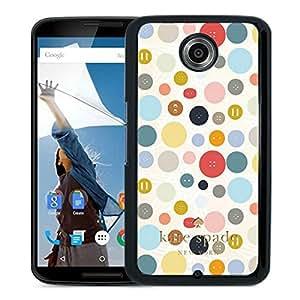 Kate Spade Cover Case For Google Nexus 6 Black Phone Case 57