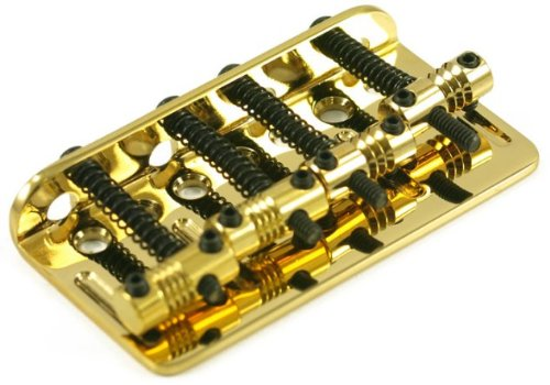 Fender American Deluxe 5-String Bass Bridge Assembly '04-'10 - Gold