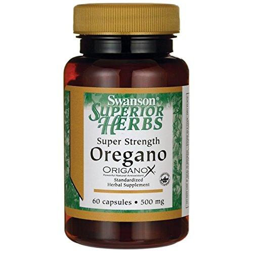 Swanson Super Strength Oregano 500 Milligrams 60 Capsules