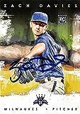 Zach Davies autographed baseball card (Milwaukee Brewers P) 2016 Diamond Kings #158 Rookie