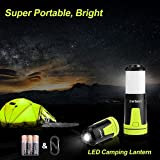 LED Camping Lantern with 3 AA batteries, Derlson® Super Portable Camping lantern lights ,Flashlights for Outdoors, Camping, Hiking, Emergencies.( Battery Operated ,Waterproof )