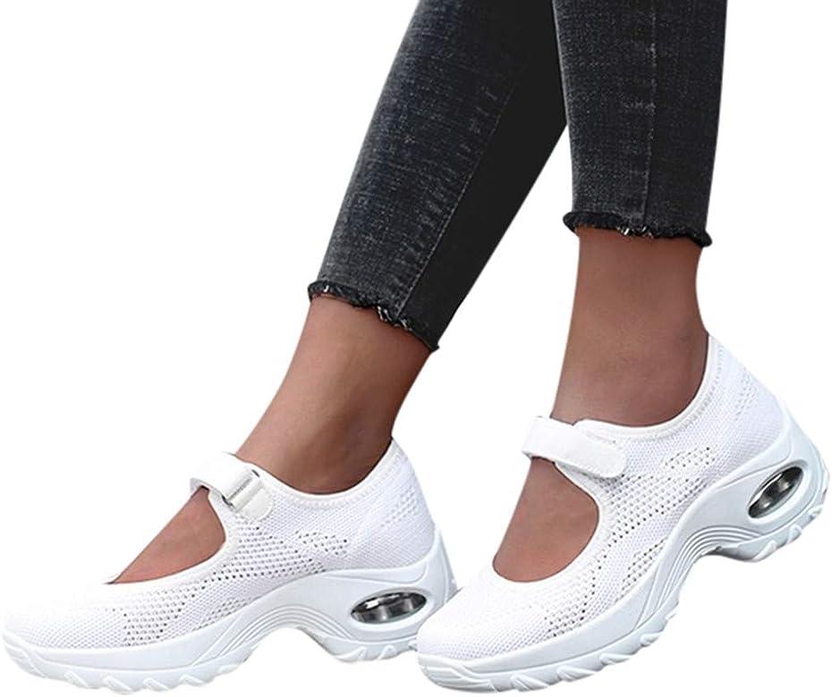 YUTING Zapatillas Deportivas de Mujer - Talla 35-42 - Casual Verano Transpirables Zapatos de Deporte con Plataforma y Velcro - Fitness Gimnasia Ligero Sneakers de Running Sandalias: Amazon.es: Zapatos y complementos
