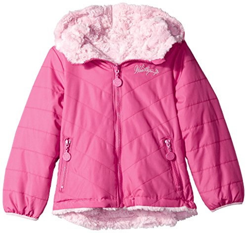 Toddler Reversible Jacket (Weatherproof Toddler Girls' Outerwear Jacket (More Styles Available), Reversible-WG202-Fuchsia/Light Pink, 2T)