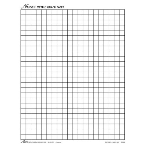 Amazon.Com: Nasco Tb25325T Graph Paper, 1Cm Squares, 11 X 8-1/2