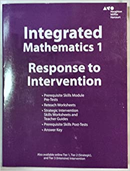 Hmh Integrated Math 1: Response to Intervention Teacher Resources