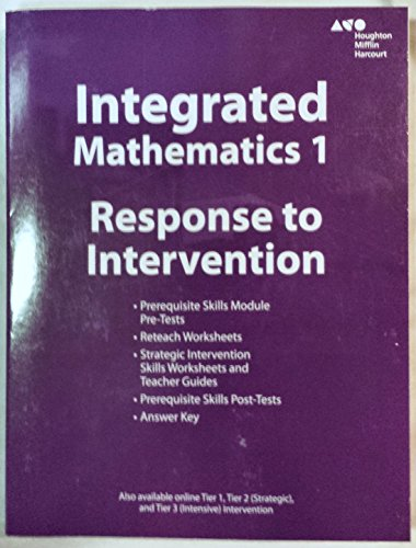 Integrated Mathematics 1 - Response to Intervention